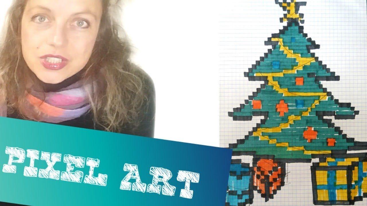 Comment Faire Un Dessin Pixel Art Sapin De Noël