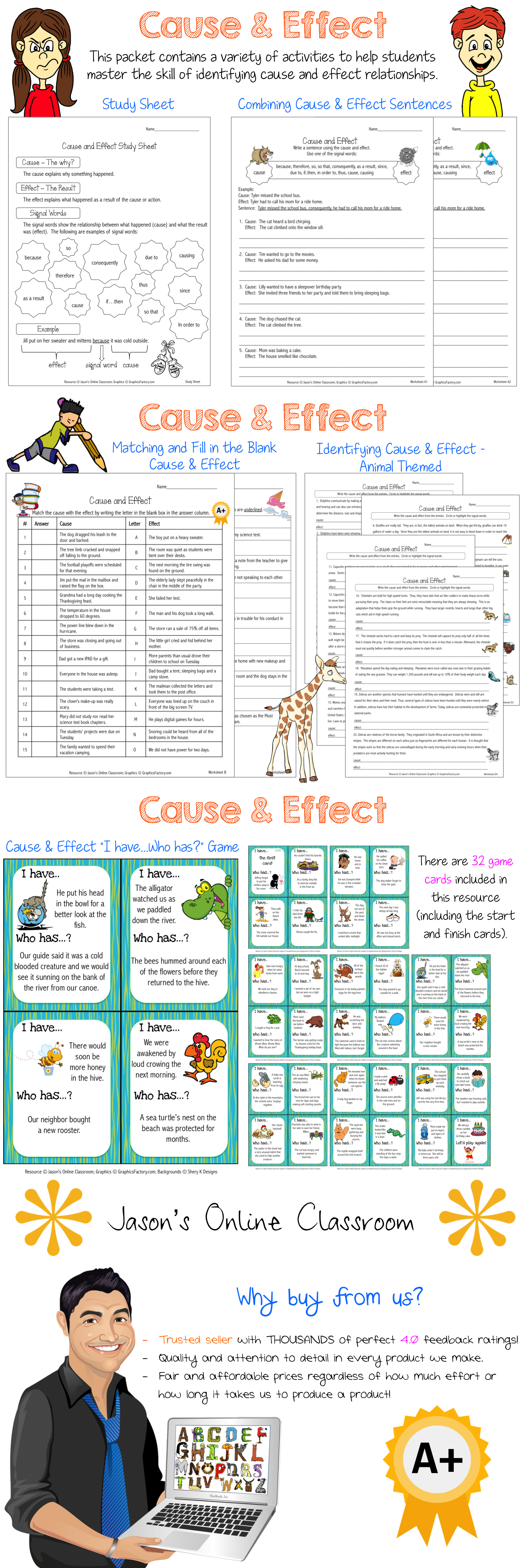 Cause And Effect Activities Bundle Teaching Ideas