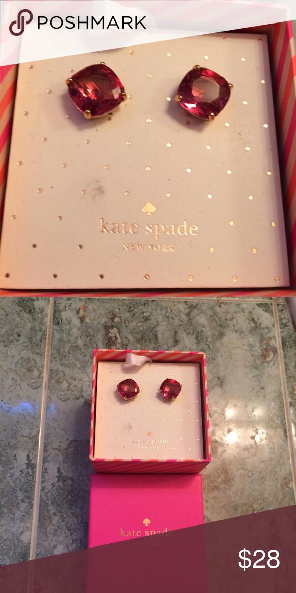 Kate Spade NIB EARRINGS Selling new  pink stud earrings . New in box kate spade Jewelry Earrings