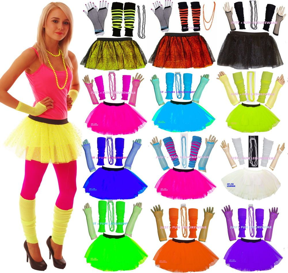 Neon tutu skirt set 80's fancy dress | Clothes for girls, Woman ...