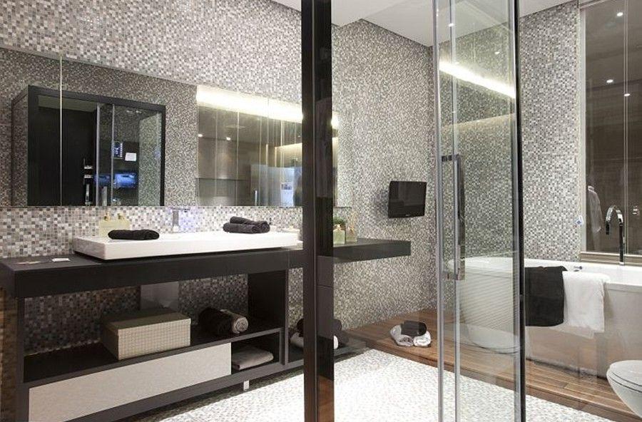 Fotos de banheiros com pastilhas modernas