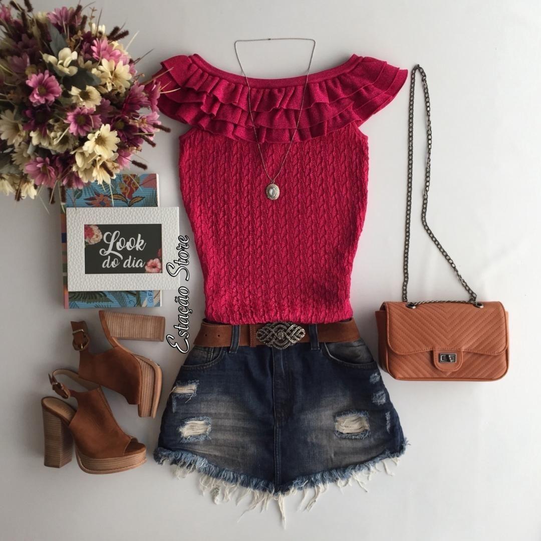 I love Pink Blusa Silvana Pink | Saia Jeans Charline Compras pelo site: www.estacaodamodastore.com.br . Whatsapp Site: (45)99953-3696 - Thalyta (45)99820-6662 - Jessica . Ou em nossas lojas físicas de Santa Terezinha de Itaipu e Medianeira - PR