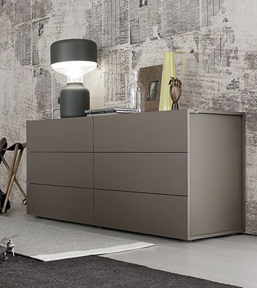 Moderne Kommoden modern 5 drawer wide chest maverik by morassutti 2 colour