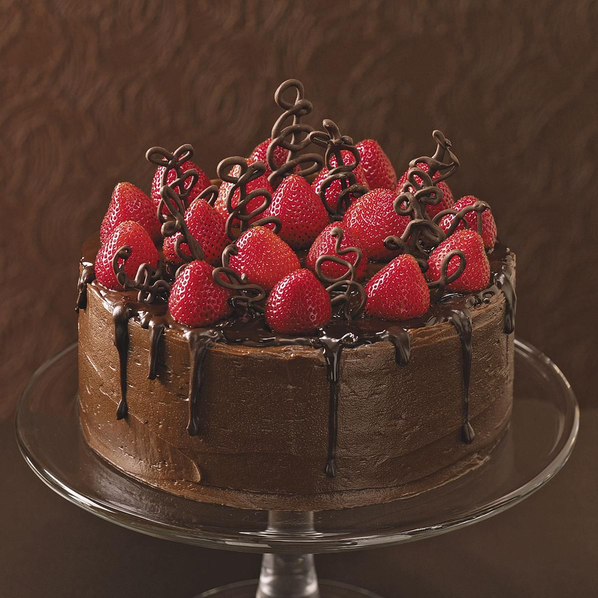 Chocolate-Strawberry Celebration Cake #celebrationcakes