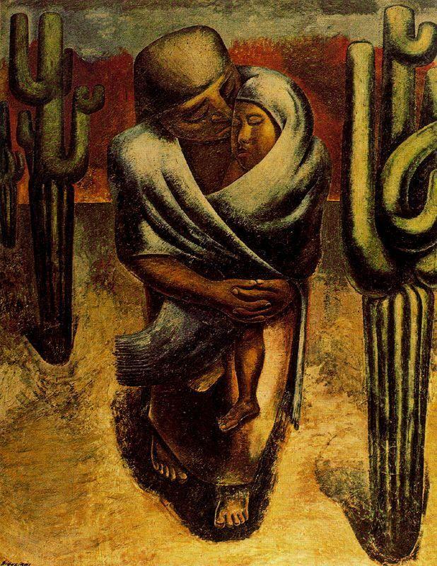 Peasant Mother 1929 By David Alfaro Siqueiros Oil On Burlap