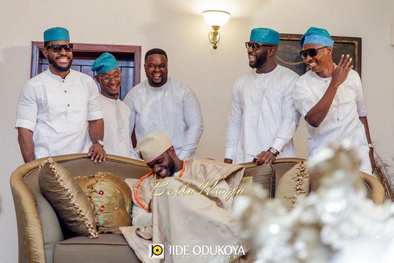 Groom 39 S Friends In White Kaftan Blue Aso Oke Caps Yoruba Traditional Wedding Aso Ebi Kemi