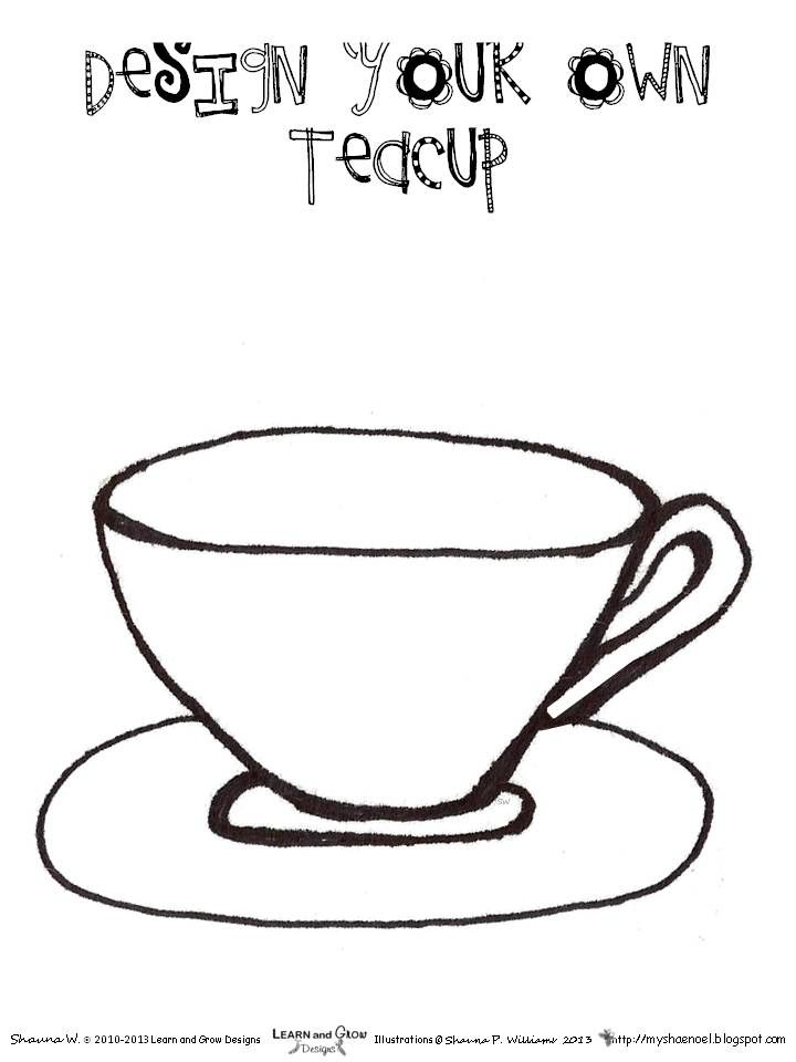 learn and grow designs website im a little teapot art project and miss spiders tea party activities - Princess Tea Party Coloring Pages
