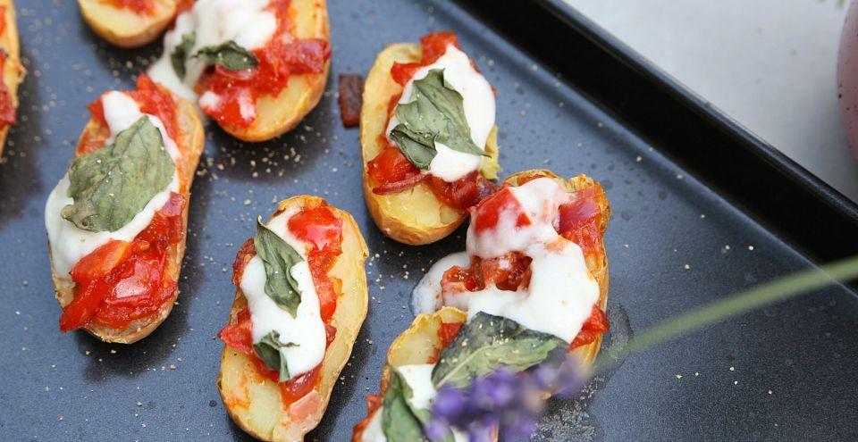 Kleine gezonde pizza's van aardappeltjes maken. Makkelijk en super lekker…