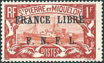 St Pierre Et Miquelon Michel 244 1 Fr Brown Red Red In Perfect Condition Expertized Brun The Catalogue Value From 550 C Wallis Et Futuna