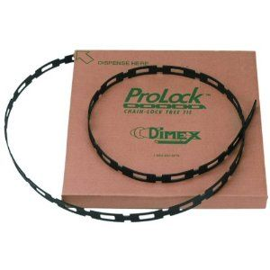 ProLock 1102 Chain Lock Tree Tie, 1-Inch Wide and 100-Feet/Roll, Black by ProLock®. $39.95. Used to attach support stakes to smaller trees. Holds tomato plants to stakes. Holds grapevines to support wires. Great for bundling cords and hoses. Holds climbing plants to trellises, arbors and lattice. Made of durable, high-density polyethylene, ProLock is stronger than most competitive chain-lock products. ProLock simply pulls through itself and twisted into a locking po...