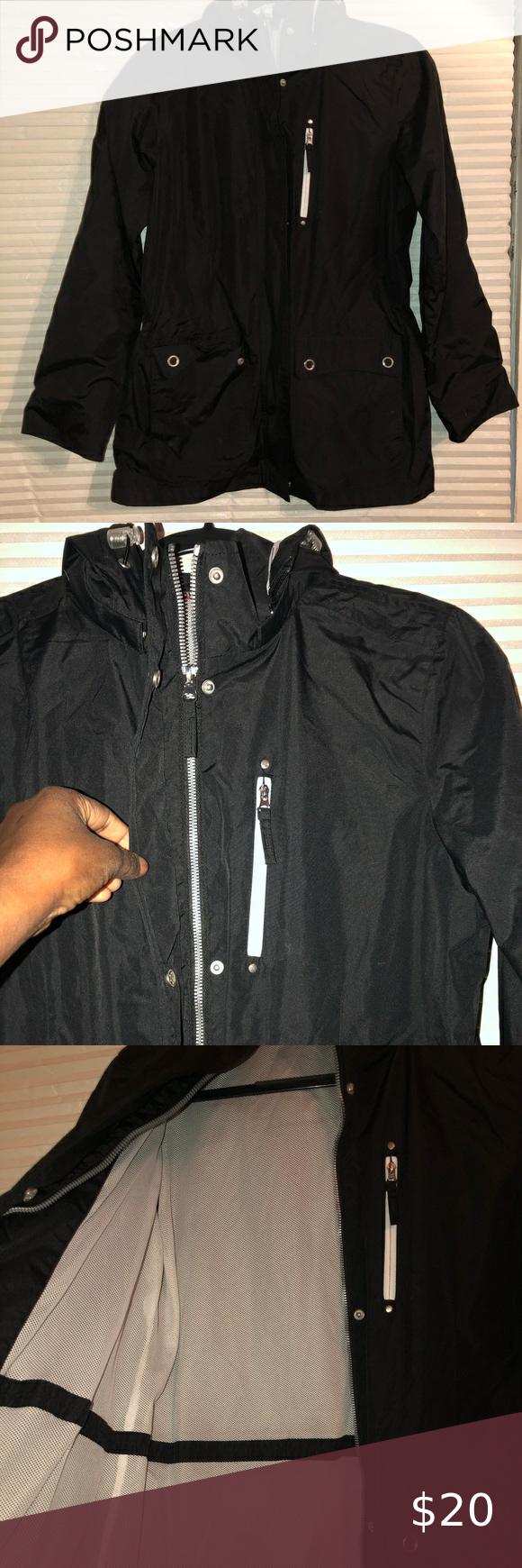 Izod Black Jacket Perfect Condition Izod Jackets Coats Utility Jackets Black Jacket Clothes Design Jackets For Women [ 1740 x 580 Pixel ]