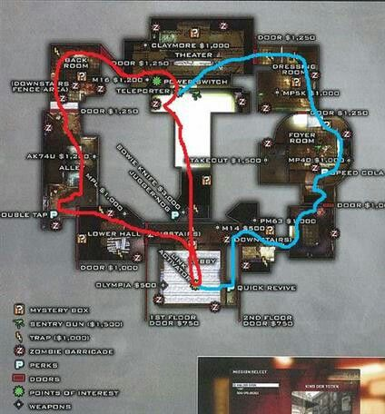 Zombies Call Of Duty Black Ops Map Lay Out on