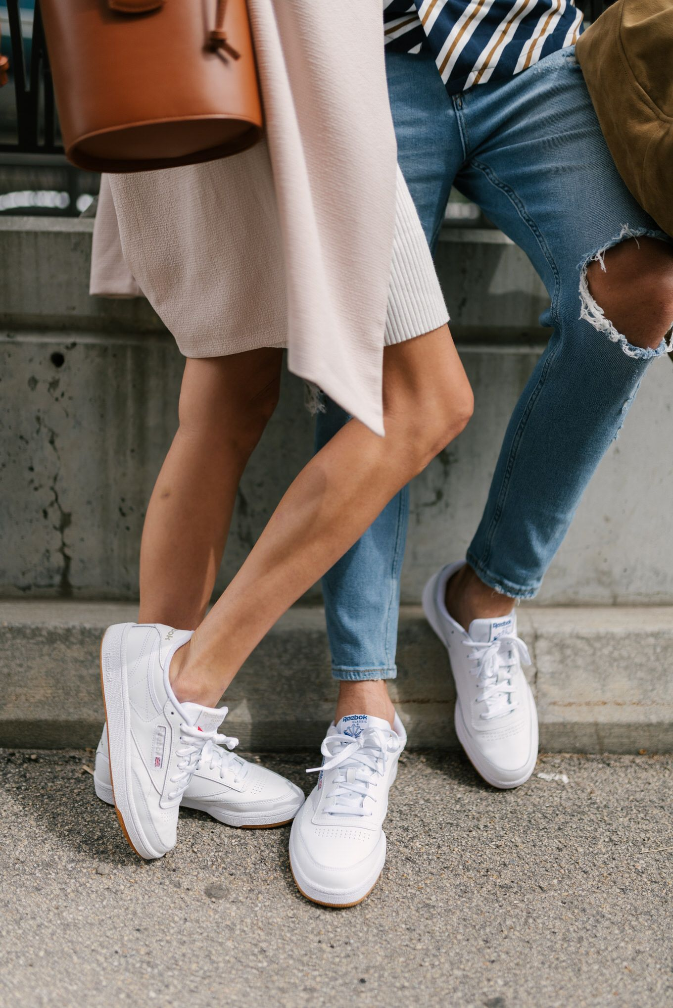 We love #white #sneakers and so does Blogger reamonalba