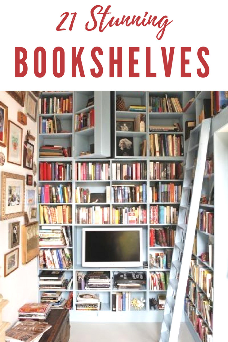 21 Stunning Bookshelves You Ll Want For Your Home Home Library Diy Cool Bookshelves Bookshelves Diy