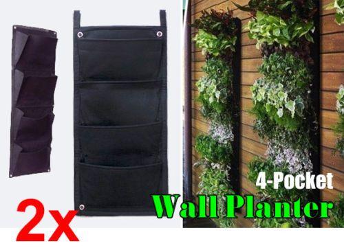 2x-4-Pocket-Hanging-Vertical-Garden-Fruit-Vege-Planters-Create-Green-Wall-Easily