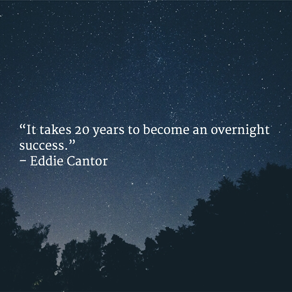 Image result for it takes years to become an overnight success