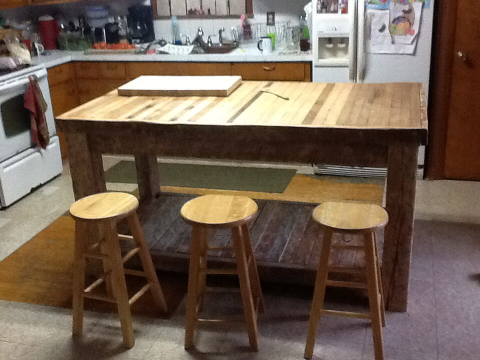 Home Made Butcher Block Table