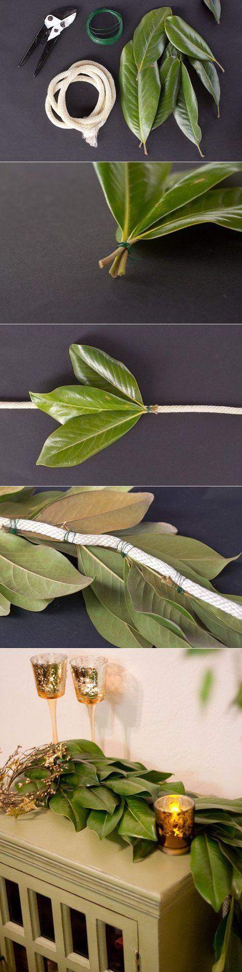 DIY Magnolia Leaf Garland - The Sweetest Occasion