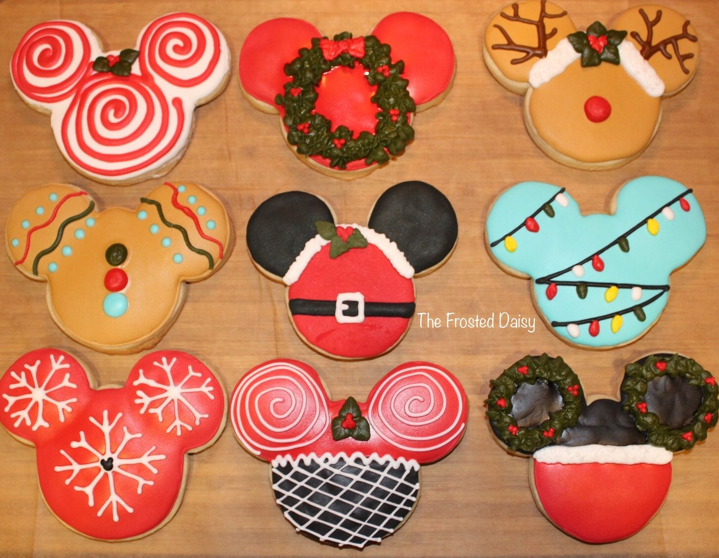 Mickey Mouse Christmas Cookies Baking Cookies Cookie Decorating