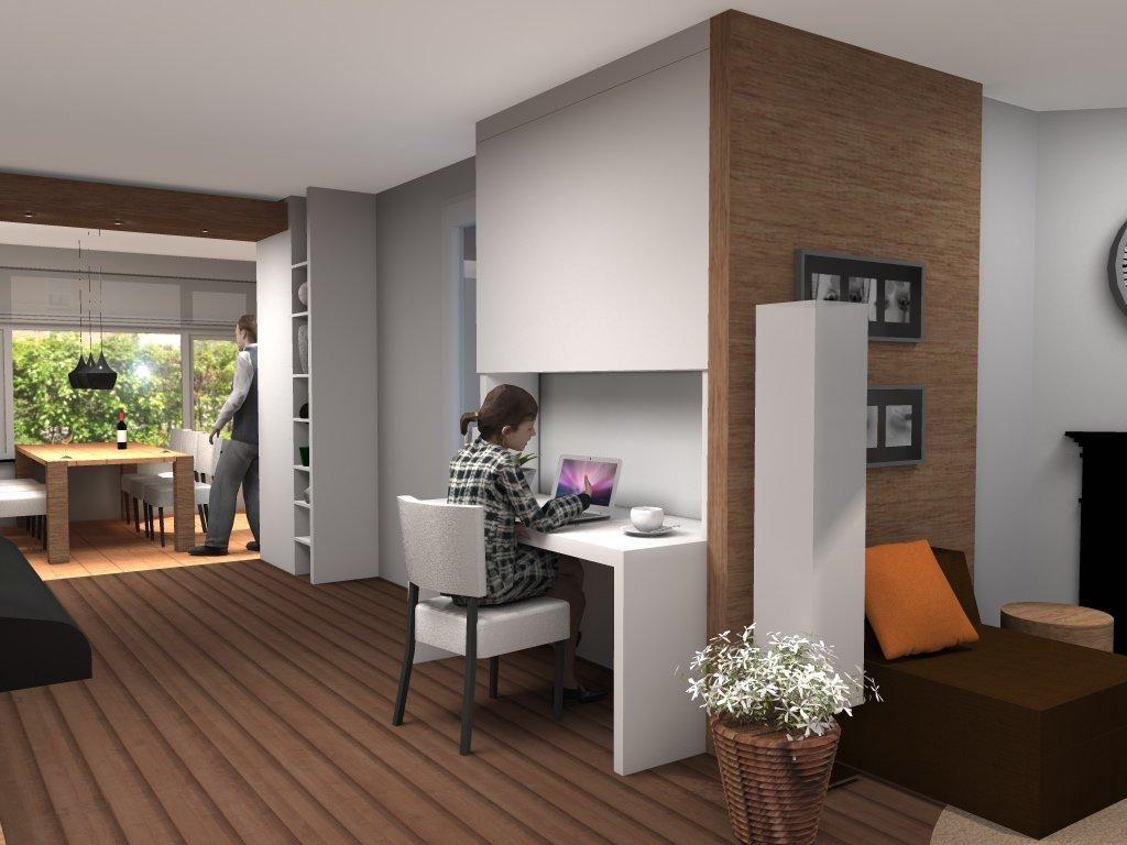 Bureau in woonkamer in nis | Huis Woonkamer | Pinterest