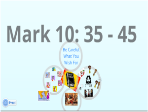 Mk 10:35-45 - or from - Mk 10:42-45 -- The Request of James and ...
