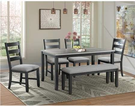 picket house furnishings kona gray 6pc dining set table four chairs rh pinterest com