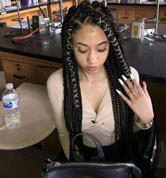 Jumbo Box Braids Styles That You Can Try | New Natural Hairstyles #colorfulboxbr...#box #braids #colorfulboxbr #hairstyles #jumbo #natural #styles