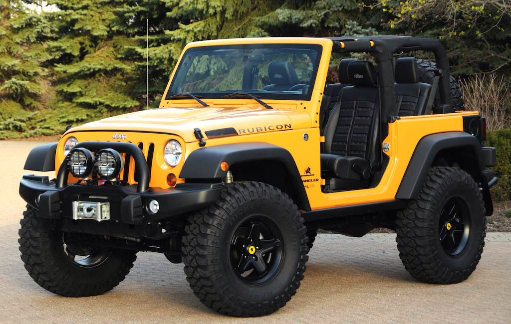 Landi Jeep Price >> Yellow 2 door lifted rubicon Jeep Wrangler no top with a soft top option. Could do a 4 door too ...