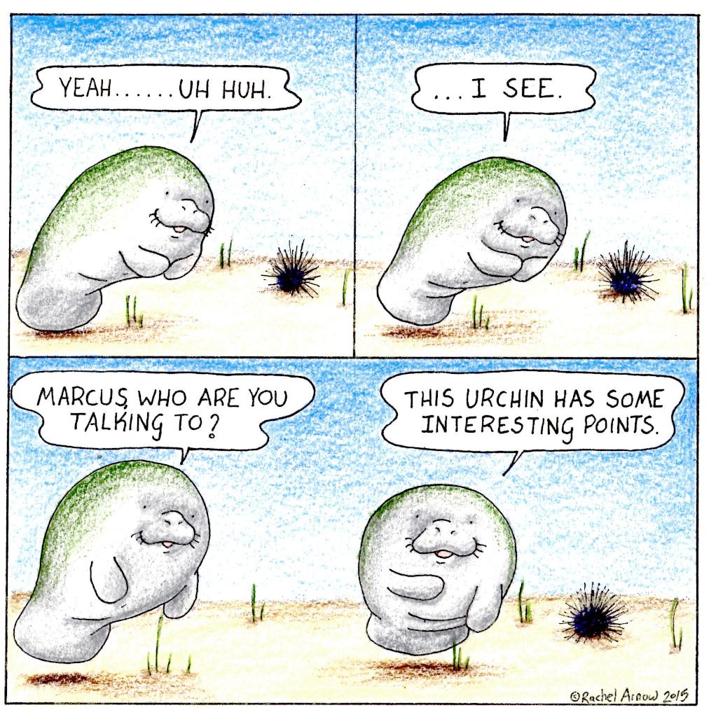 Happy Monday Man vs. Manatee! (3) Here is the new comic