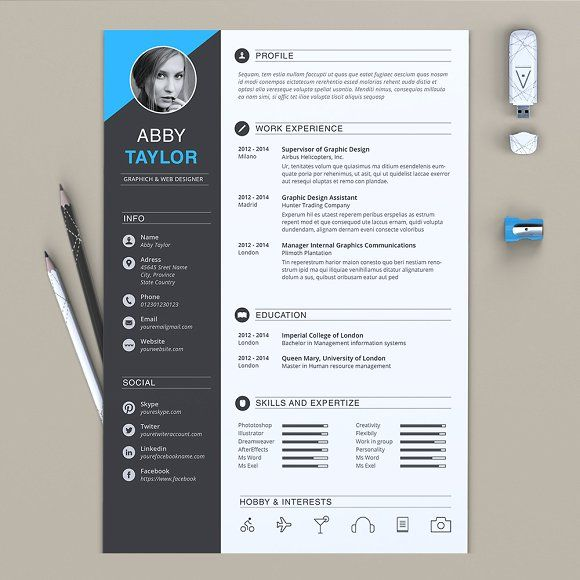 word resume by estartshop on  creativemarket
