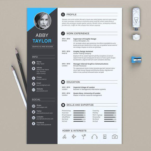 word resume by estartshop on  creativemarket