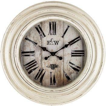 Distressed White Wall Clock Hobby Lobby 1150184 In 2021 White Wall Clocks Large Vintage Wall Clocks Vintage Wall Clock