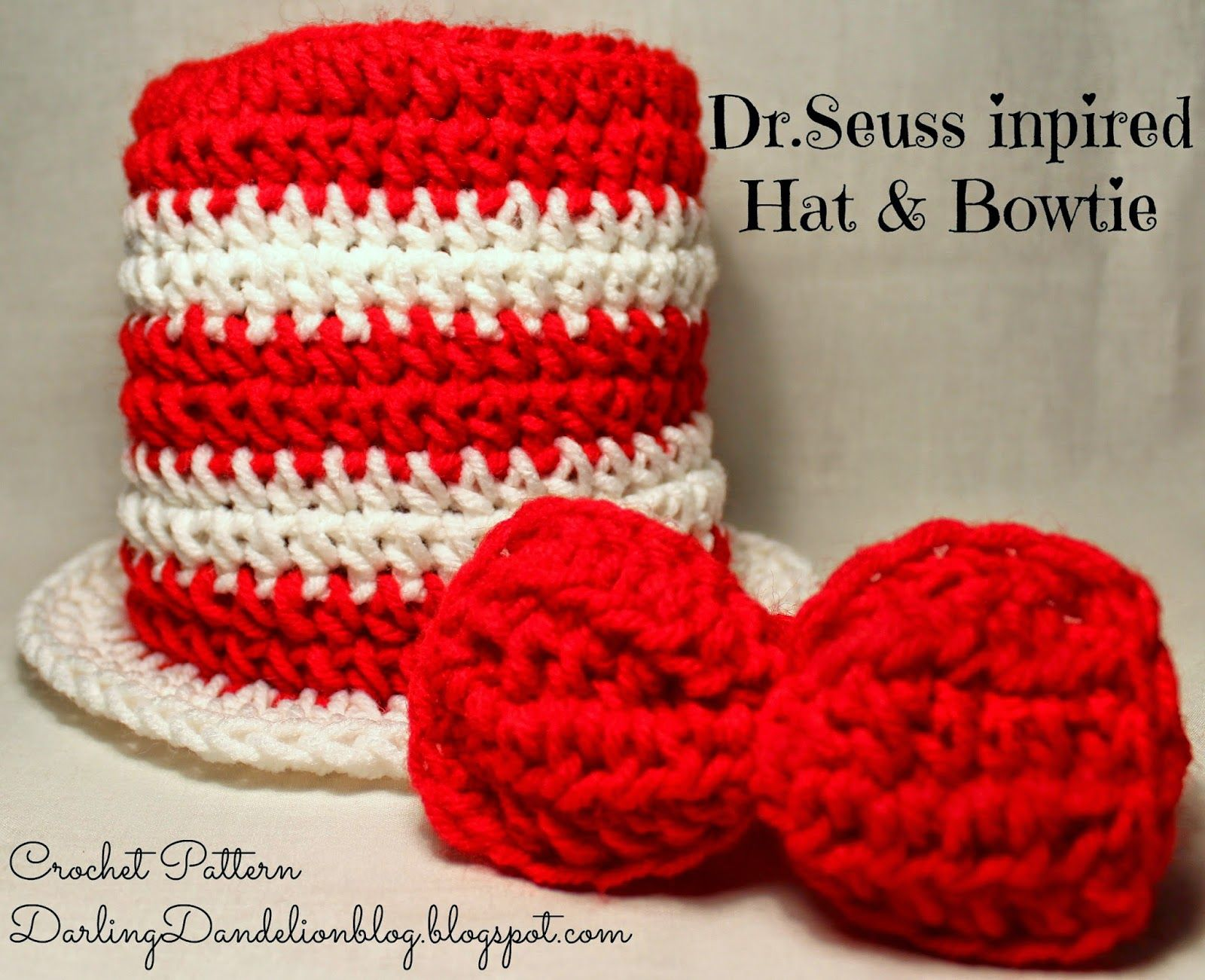 Dr.Seuss Cat in the Hat inspired Crochet Pattern! | crochet ideas ...