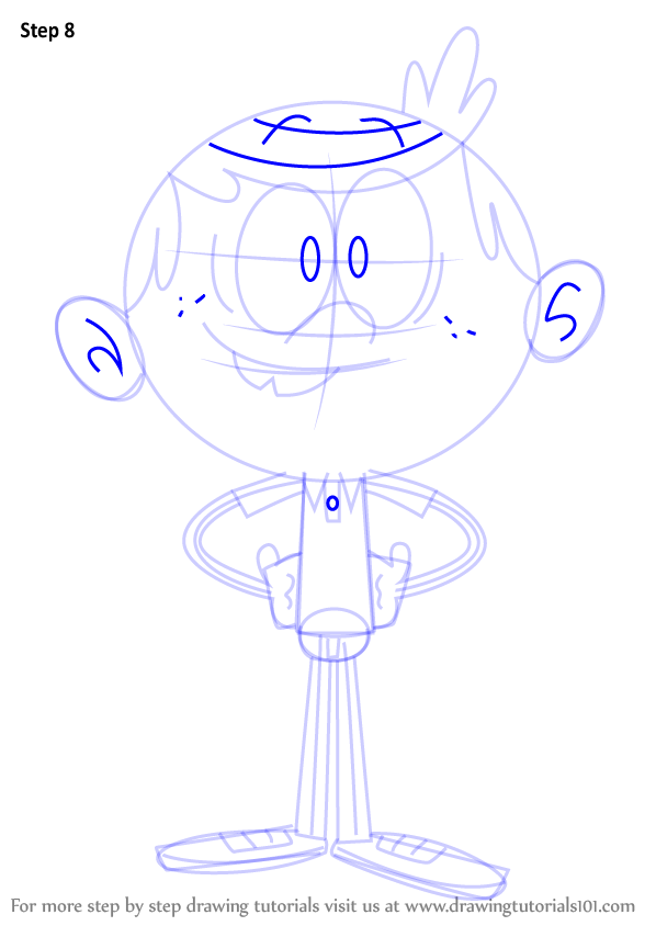 How To Draw Lincoln Loud From The Loud House   DrawingTutorials101.com