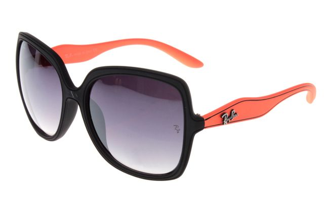Cheap Ray Ban Jackie Ohh Sunglasses Orange/Black Frame gray lens Outlet For  You!
