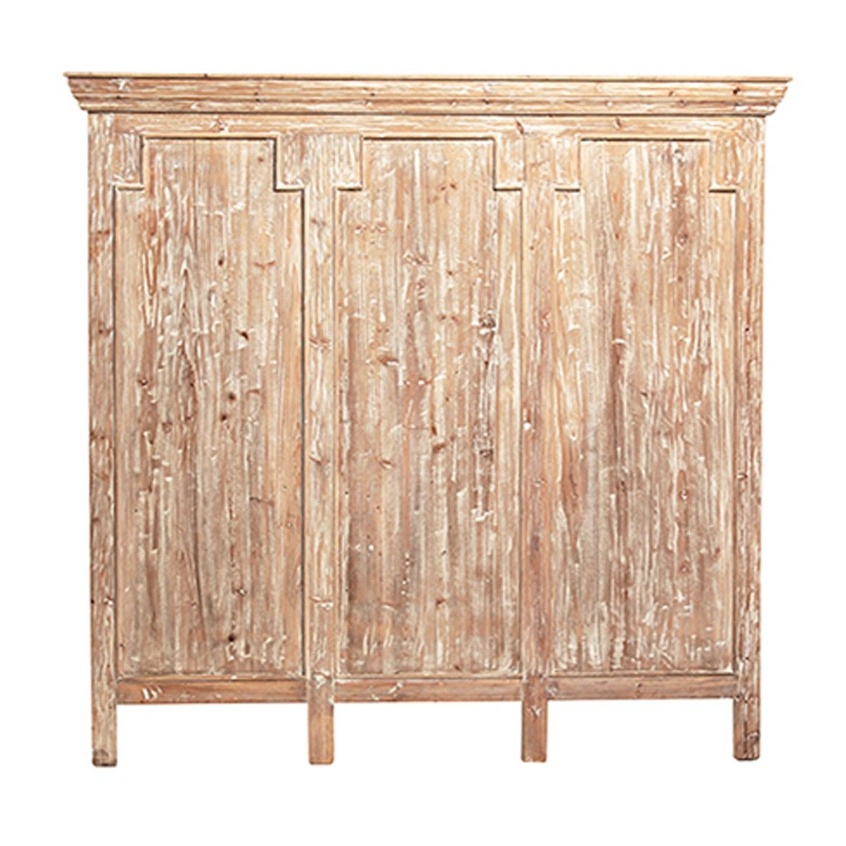 Crafted from solid reclaimed pine hand rubbed white wash finish