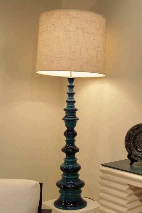 1970's italian ceramic floor lamp - 1970's Italian Ceramic Floor Lamp Furniture & Lighting