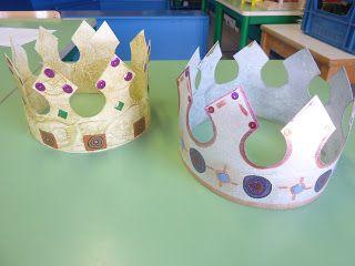 Couronne des rois projet galette maternelle pinterest couronne des rois les rois et roi - Couronne epiphanie maternelle ...