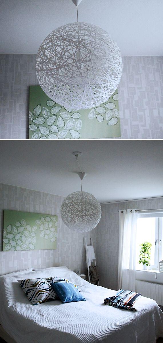 Lamparas DIY con cordon o soga Déco maison Pinterest Es facil