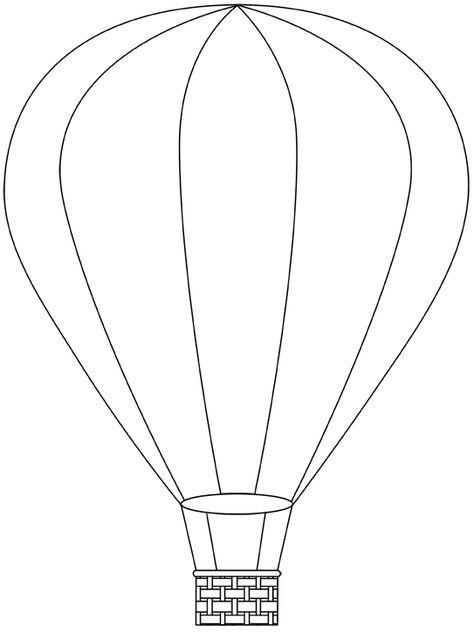 ballons2  modèle de ballon montgolfière dessin art bouton