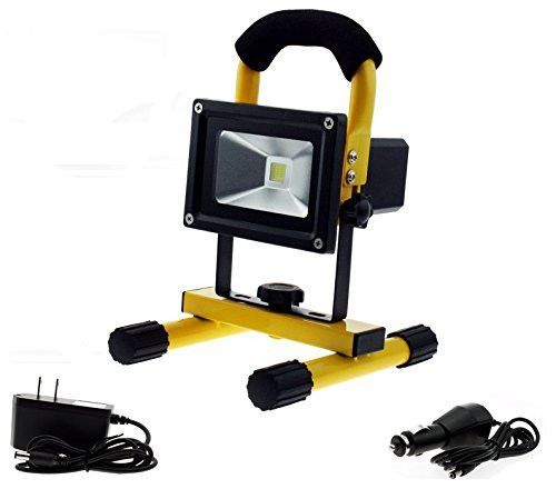 Portable Lithium Battery Rechargeable Light Yellow 10 Watt 4 Hrs Of Cordless Operation Rechargeable Light Led Work Light Work Lights