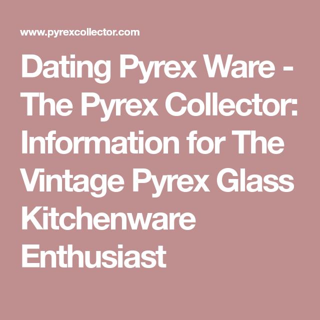 Dating pyrex patterns