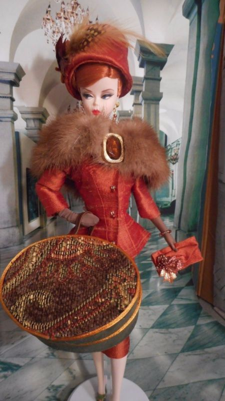 *FALL BLAZE*  Silkstone Vintage Repro Barbie Victoire R FR OOAK Clothes by Mary