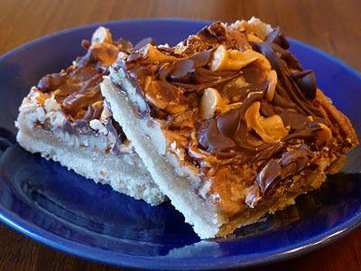 Joyful Homemaking: Chocolate and Butterscotch Caramel Pecan Bars...Mmmm!