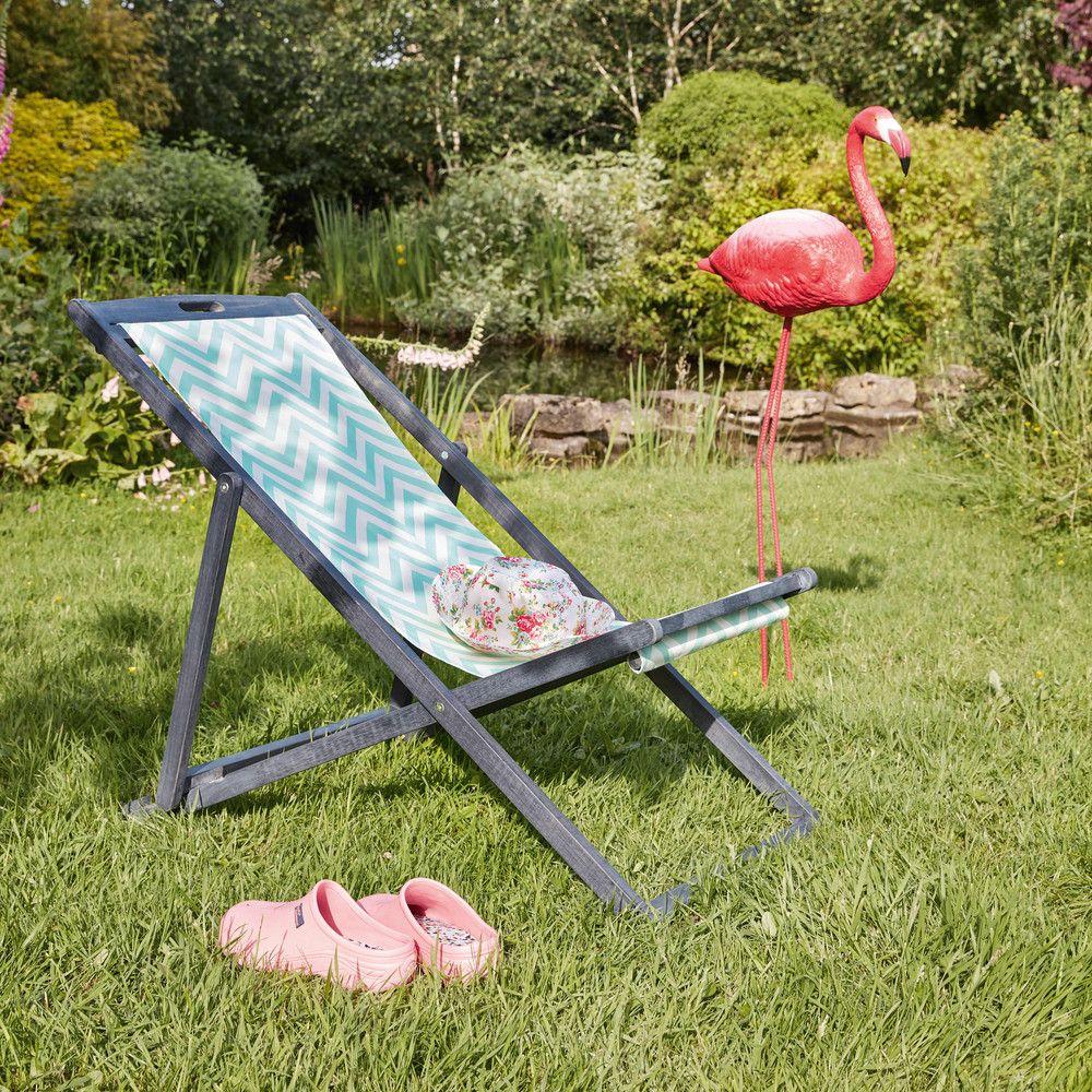 pink flamingo garden decoration H 122 cm   Deck chairs and Decking