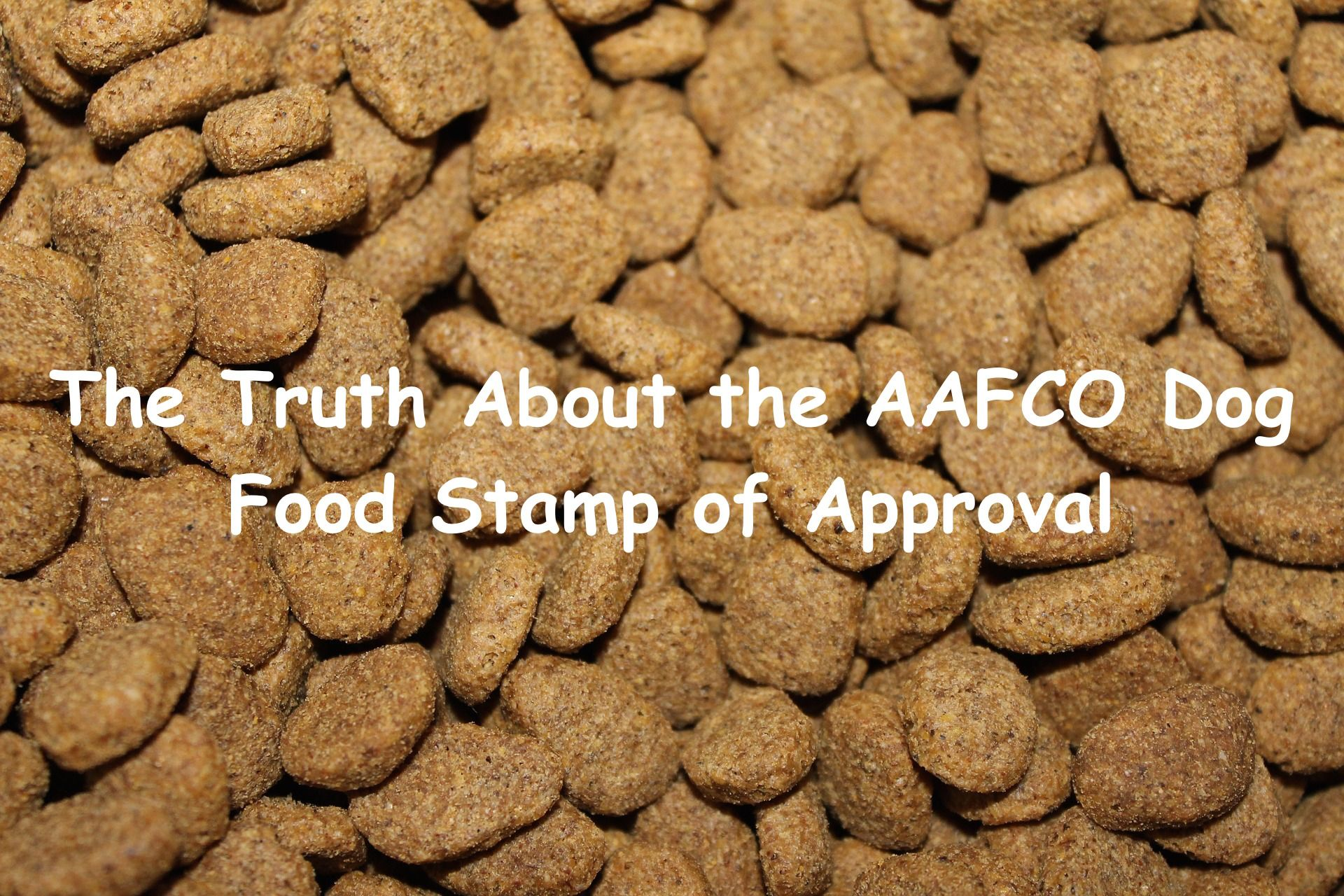 The Truth About The Aafco Dog Food Stamp Of Approval Dog Food