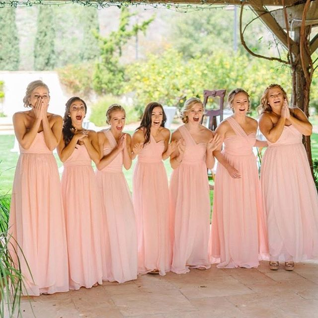 T H I N K P Wishing You A Hy National Pink Day From Vow To Be Chic Alyssa S Bridesmaids Are Blushing Beauties In Our Convertible Chiffon Aidan