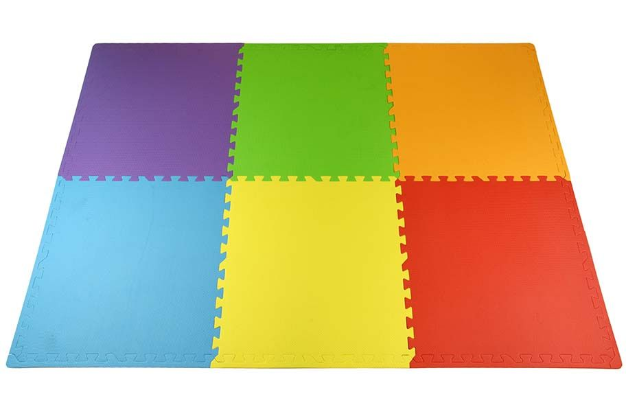 Rainbow Play Mats Colorful Interlocking Foam Tile Pack Kids Playmat Interlocking Foam Tiles Foam Tiles