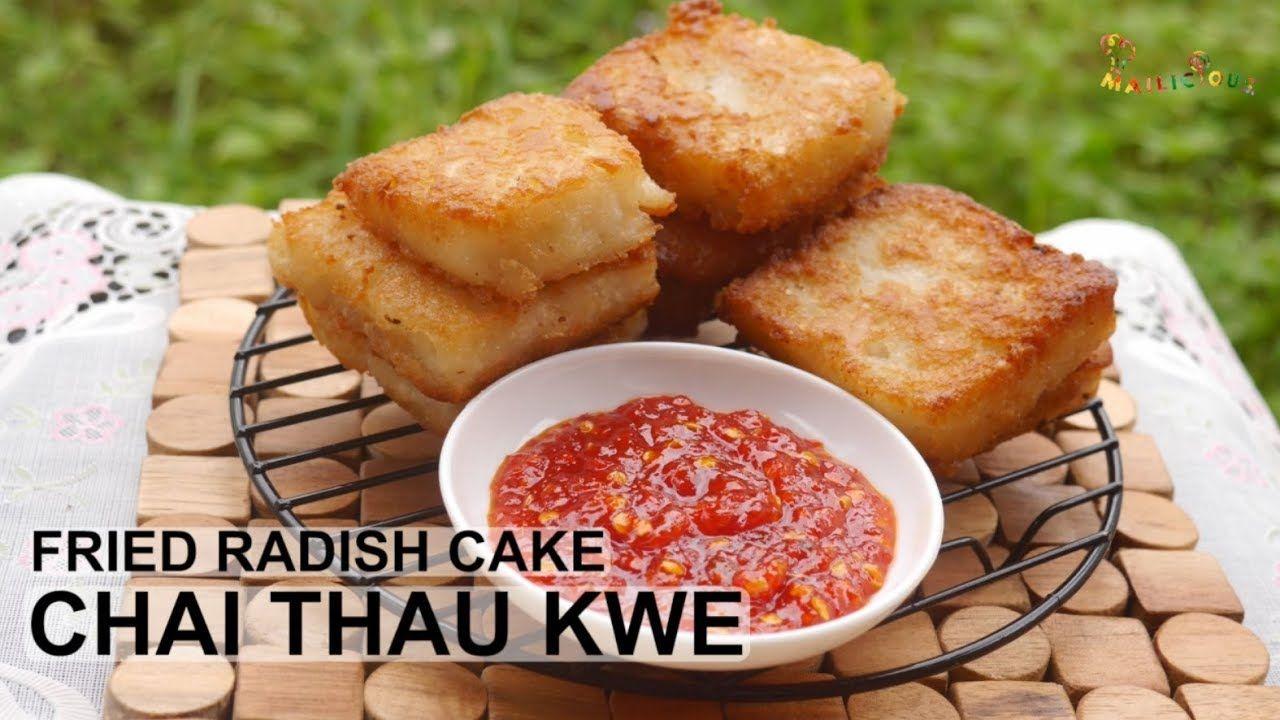 Kue Lobak Goreng Bikin Nagih Chai Thau Kwe Radish Fried Cake Ide Makanan Makanan Lobak