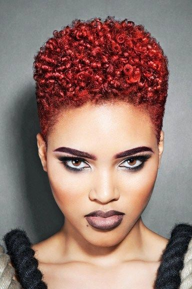 Absolutely Wonderful Red Natural Hair Styles Black Natural